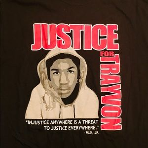 Rare Justice For Trayvon Martin Powerful T Shirt